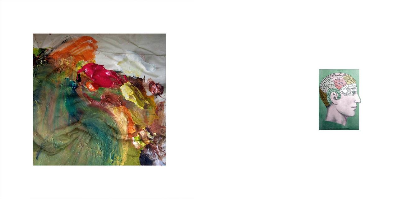 1. Tavolozza di mio padre che ha sempre fatto il pittore 2. Frenologia. Tavola che mostra le diverse aree del cervello. La frenologia è una dottrina pseudoscientifica secondo la quale le singole funzioni psichiche dipenderebbero da particolari zone o regioni del cervello